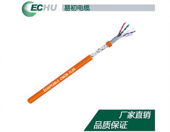 双护套中度柔性耐弯曲对绞屏蔽电缆